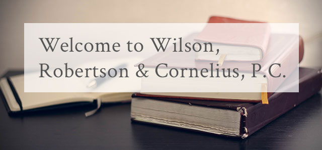 Welcome to Robertson & Cornelius, P.C.